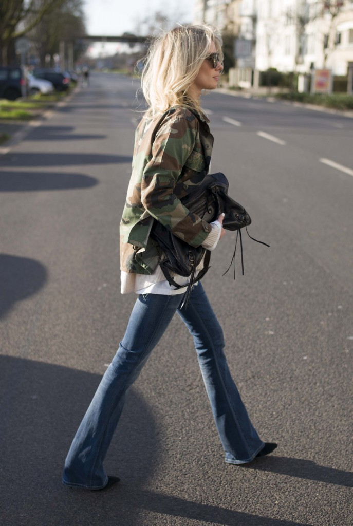 Military Trend 2015: Lisa RVD is wearing a vintage camouflage jacket