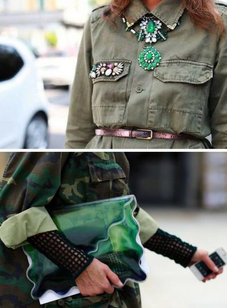 Tendencia militar en la moda